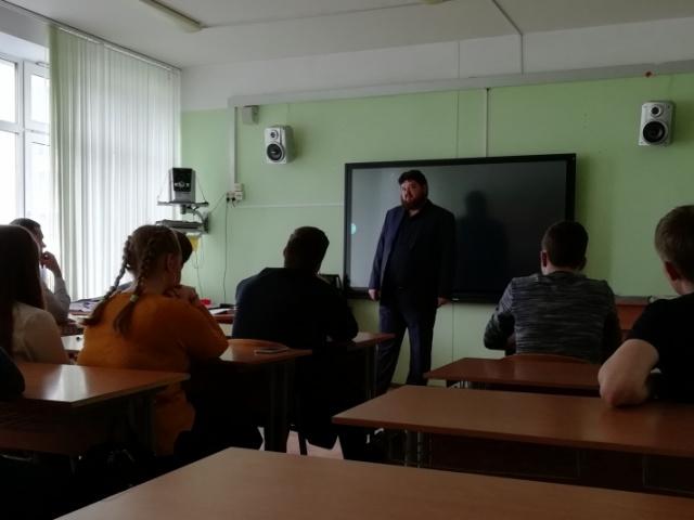 Урок Трезвости в 10 классе средней школы в п. Марушкино